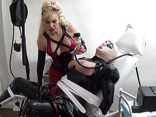 rubber slut milked in the medical clinic by Madame C