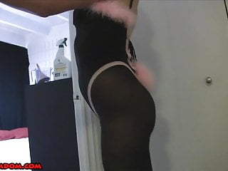 Cuckolded by a Bunny Girl CHASTITY SPIKES PANTYHOSE COSPLAY