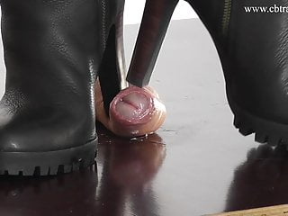 Cock and Ball Trampling under rough Boots