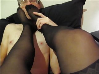 Dirty Talking Escort Stocking Feet Licked