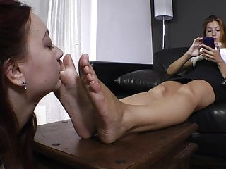 Sniffing sweaty mistress feet
