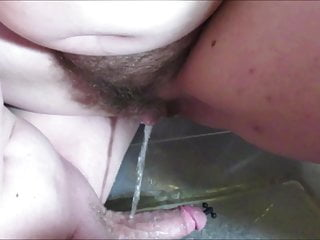 Girlfriend Pisses On Boyfriends Dick Sexy Hairy Pussy Pees