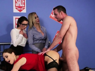 CFNM babe fucked hard while other babes watch