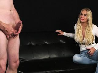 Busty blonde domina mocks