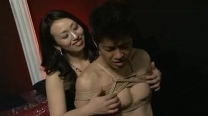 Japanese mistress nipple stimulation and strapon 3