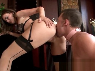 Brunette Femdom In Sexy Lingerie
