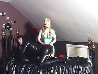 Sissy Bitch Latex Slutty Guy Dominted By Mistress