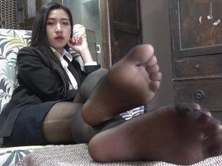 Aian Pantyhose Girl Nanxi Feet Tease