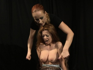 Milf dominatrix pussytoying busty submissive