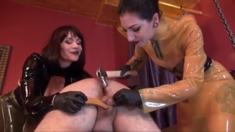 Compilation Extreme Domme CBT On Naked male slave Dicklets