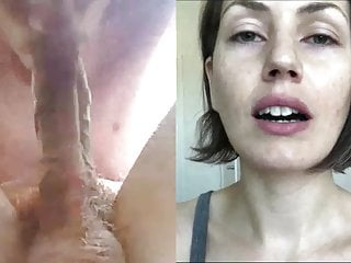 Sarah Shevon watching me suck my own cock outside