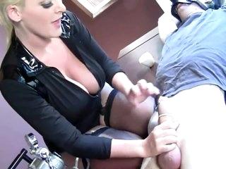 Femdom Sophie Dee Milking Machine CEI Slave Drink Hes Own Cum