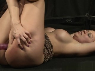 Busty sub dominated over by lezdom mistress