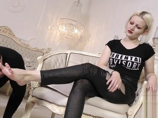 German mistress foot worship