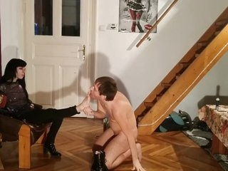 Beth Kinky - Sexy domina cock stomping & ballbusting slave pt2 HD