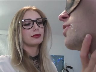 Hot german Mistress uses her new slave