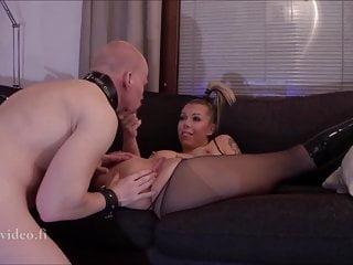 Finnish Bitch Wife giving hard strapon husband