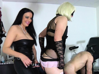german bdsm domina spank slave and fuck with strapon