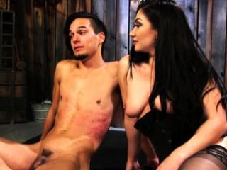 Bound Slave Spanked Around
