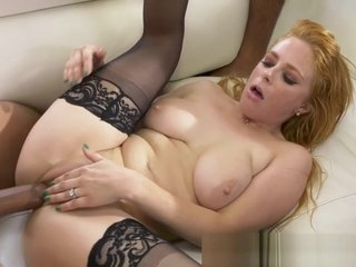 Cuckolding Redhead In Stockings Fucked
