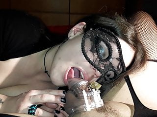 caged sissy gets her clit and pussy teased by girlfriend