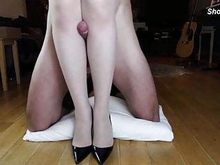 Leg fucking in high heels femdom