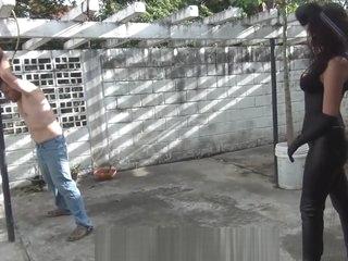 Sensual Kalinda punishing slave