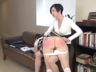If you're caught reading about spanking at school, you'll get one at home