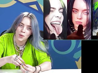Billie Eilish cum tribute reaction