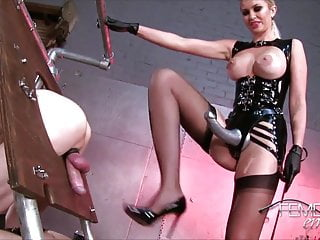 Mistress teaches her slave dog