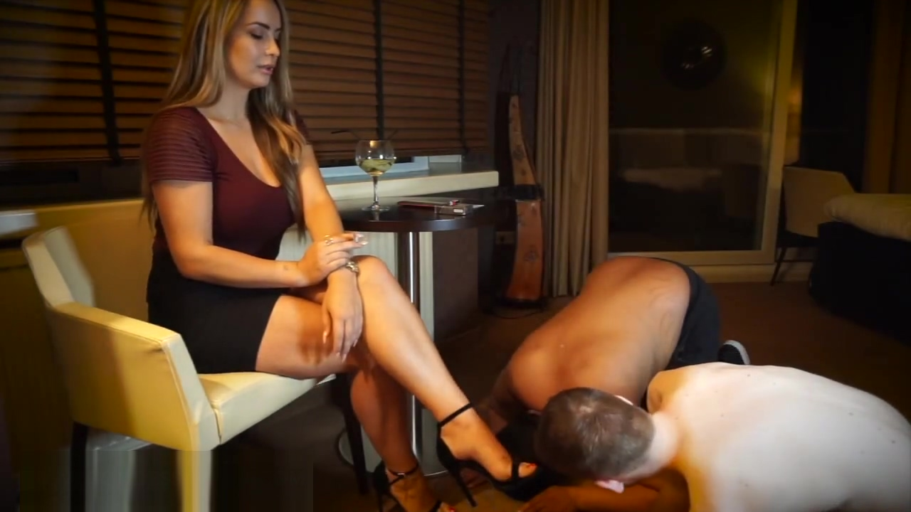 Mistress two slaves worship