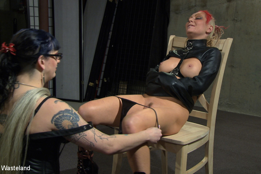 Jade Thomas & Simon Blackthorne in Please Take My Panties Off - Femdom Lesbian Domination - KINK
