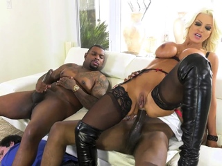 Trophy wife gets ass ruined forever by giant black cocks