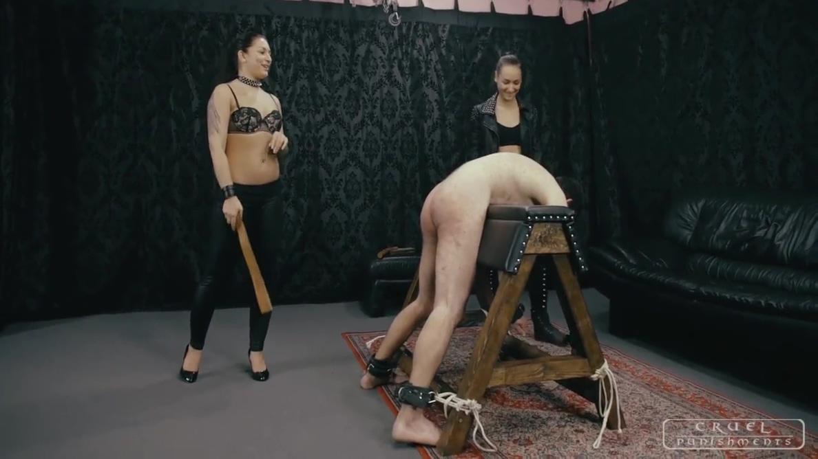 CRUEL PUNISHMENTS - Mistress Darkness and her lesbo friend