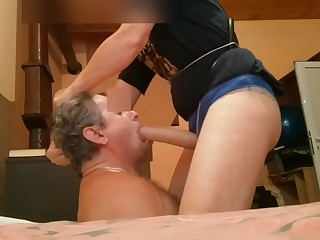 Strapon mouth fucking 13