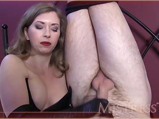 Corset mistress humiliates slave