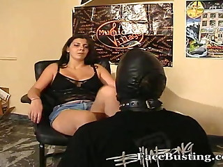 Foot slapped and humiliated