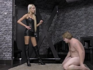 Cruel Young Goddess In Hard Ballbusting