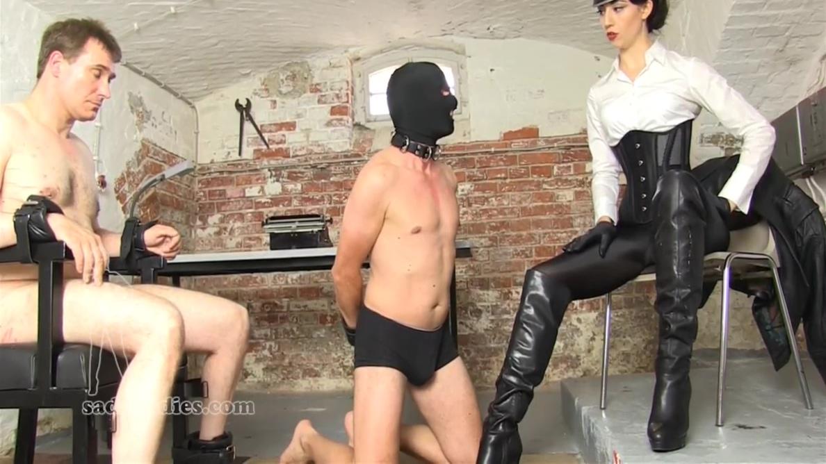 German Mistress Interrogates Slave With Slaps With Nicky Parker