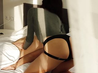 Wife fucks a cuckold in the ass with a strap-on