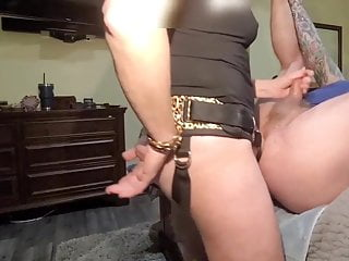 Miss A fucks sissy slowly with the Rentman from Mr Hankey's toys