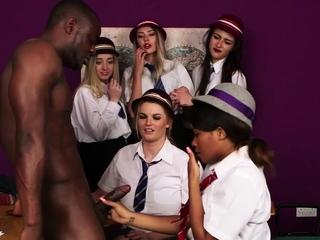 Ebony babe in uniform