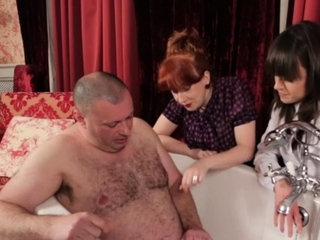 British CFNM dommes humiliate tiny dick subject
