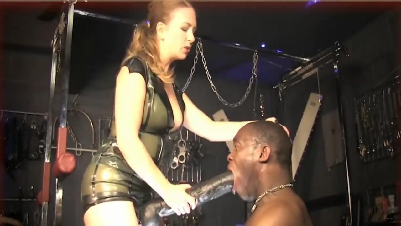 Latex Mature Mistress Monster Strapon Hardcore Anal Fuck Black Slave Femdom