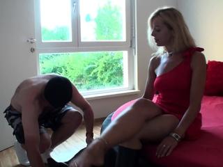 sexy Bianca teach her boot slave