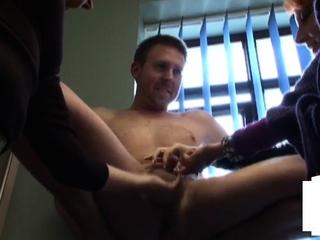 CFNM MILFs teasing repairmans tiny dick