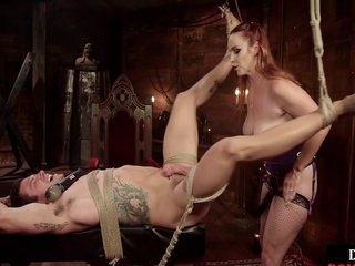 Bdsm Ginger Dominating Sub With Cbt And Feet After Whipping