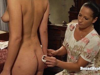 Naughty Big Tits Lesbian Slave Orgasms With Mistresses Panties In Mouth