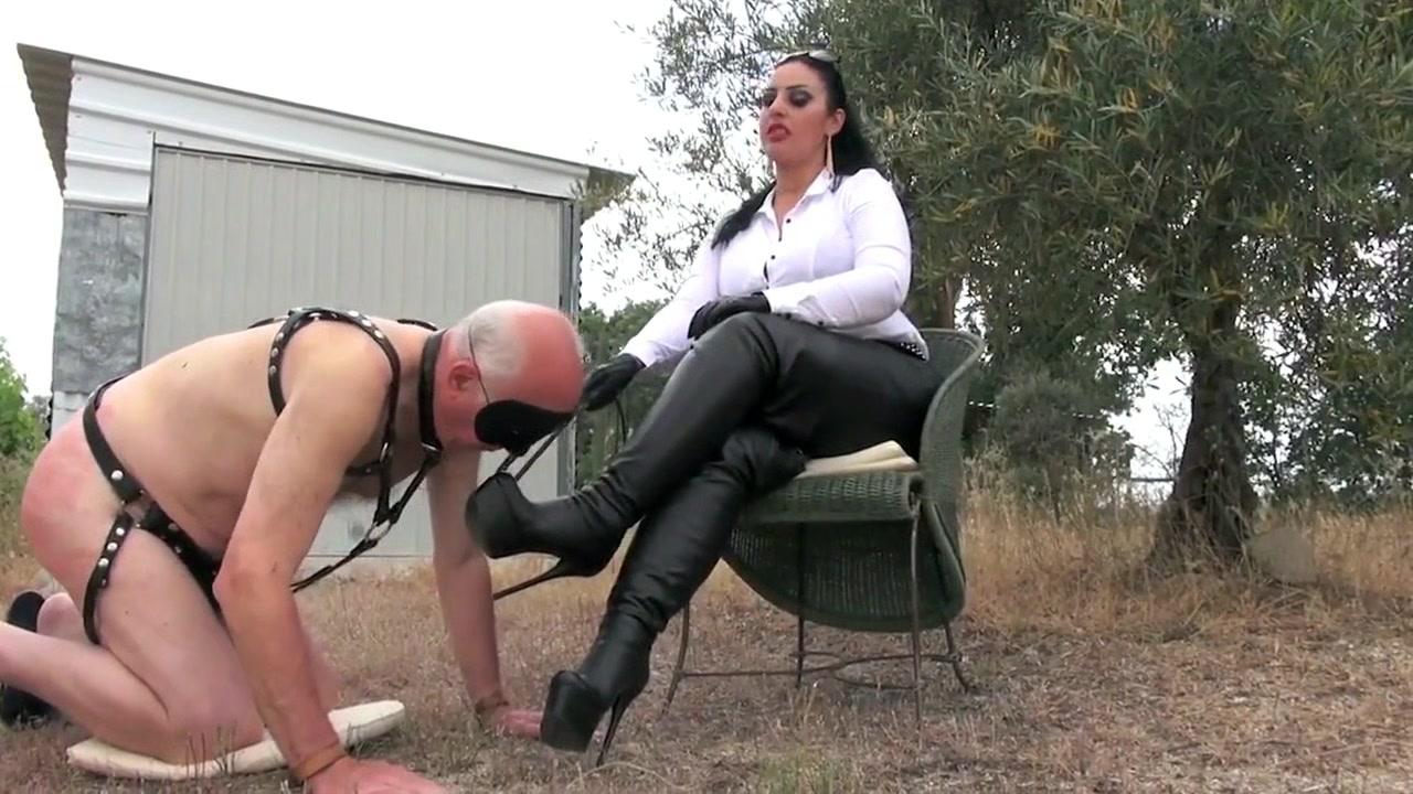 German Femdom Outdoor Punishment Training...