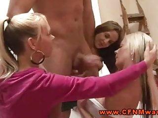 Hot femdom CFNM dominas tug